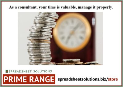 Consultant Time Sheet – £210