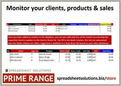 Product & Invoice Database – £220