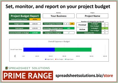 Project Budget Tracker – £120
