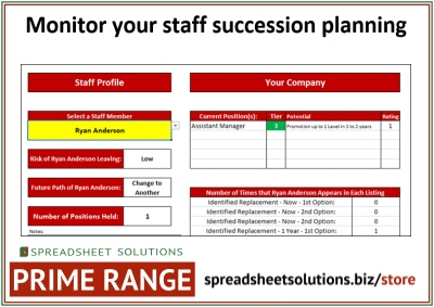 Staff Succession Planner – £360