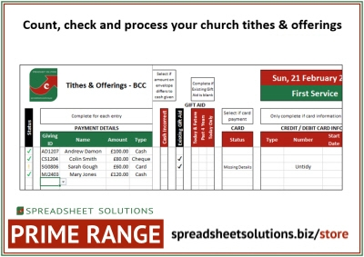 Tithes & Offering Capture (Churches) – £180