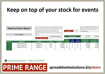 Event Stock Management Calculator – £220