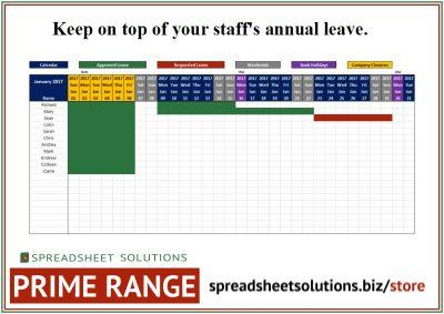 Annual Leave Schedule – £220