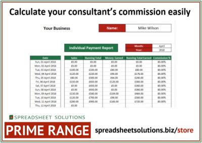 Consultant Commission Calculator 220 Spreadsheet Solutions