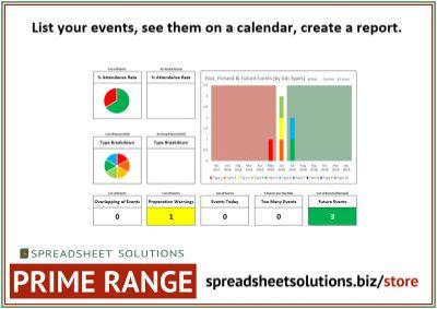 Events List & Calendar – £120