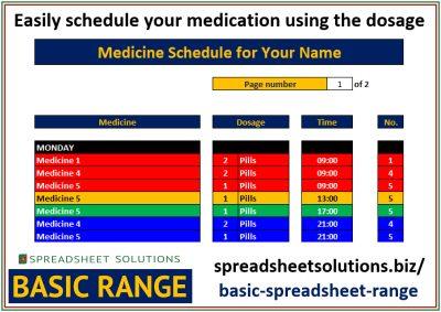 Medicine Scheduler – £25