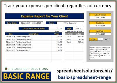 International Expense Tracker – £25