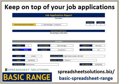 Job Application Tracker – £25