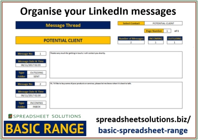 LinkedIn Message Organiser – £25