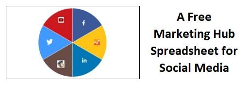 A Free Marketing Hub Spreadsheet for Social Media