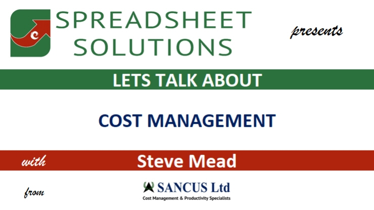 Let's Talk About COST MANAGEMENT