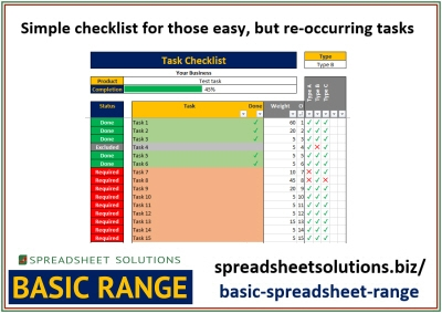 Repetitive Task Checklist – £25