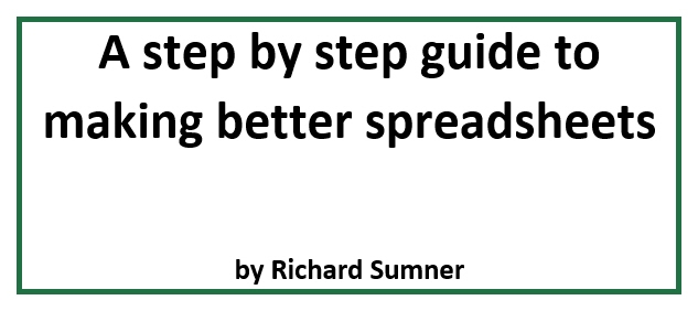 A step by step guide to making better spreadsheets free ebook