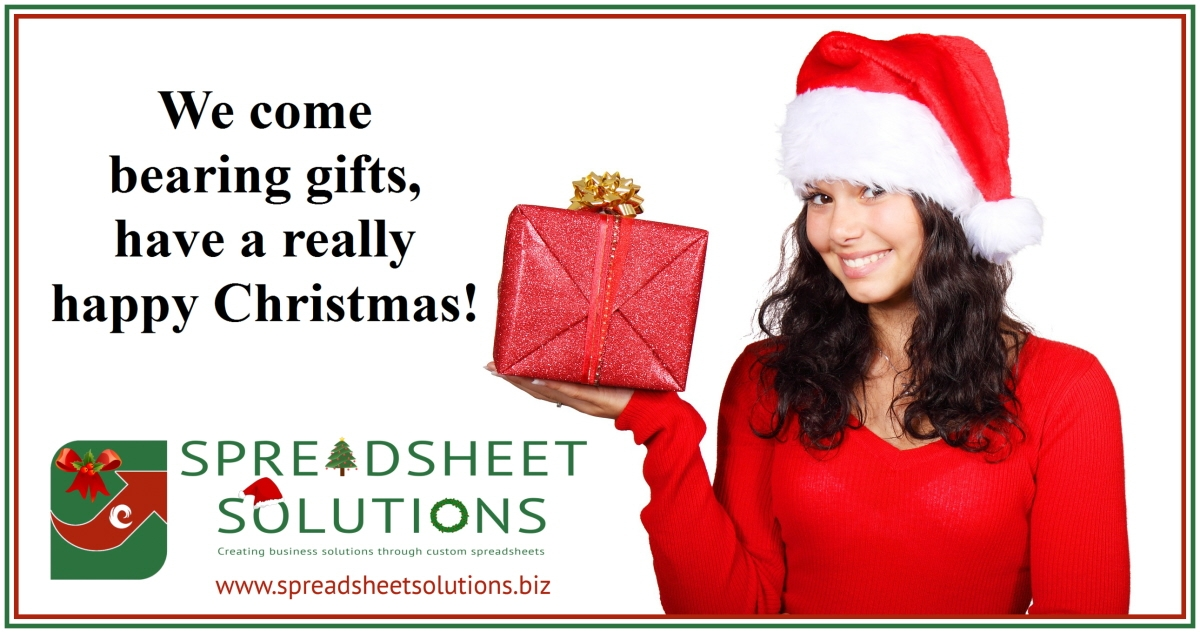 Spreadsheet Solutions - Merry Christmas Gifts