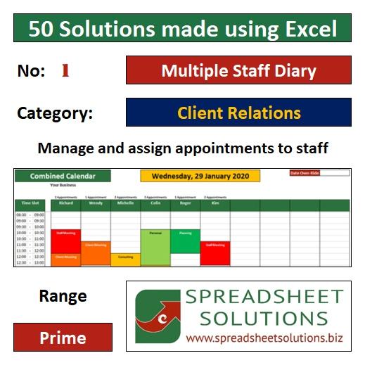 01. Multiple Staff Diary