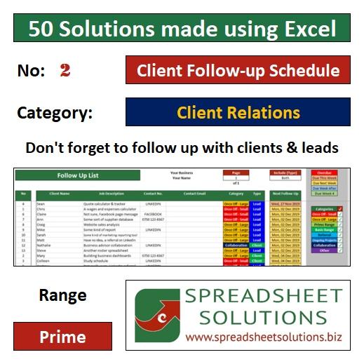 02. Client Follow-up Schedule