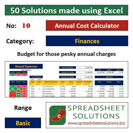 10. Annual Cost Calculator