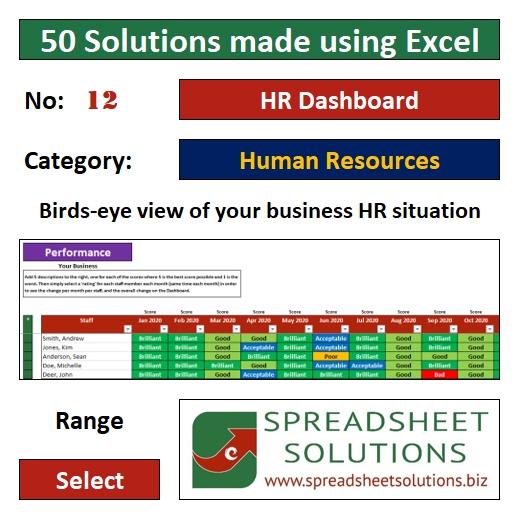 12. HR Dashboard