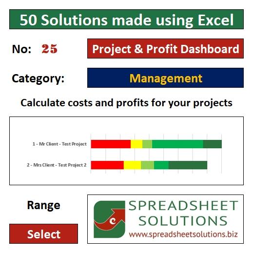 25. Project & Profit Dashboard