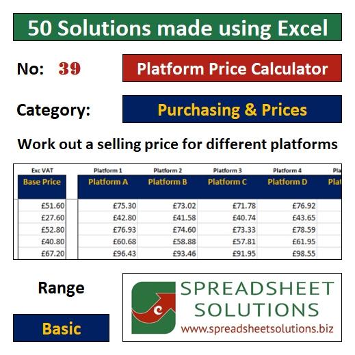 39. Platform Price Calculator