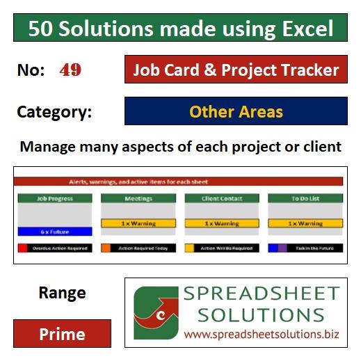 49. Job Card & Project Tracker