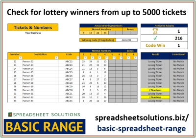 Lottery Number Checker – £35