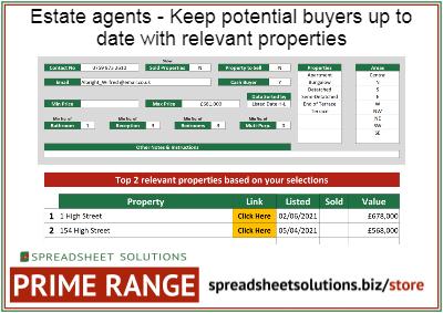 Estate Agent – Buyer Property Matcher – £350